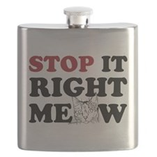 Stop it Right Meow Flask