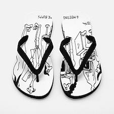 Computer Cartoon 4130 Flip Flops