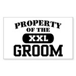 Property of the Groom Rectangle Sticker