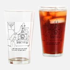 Computer Cartoon 3270 Drinking Glass
