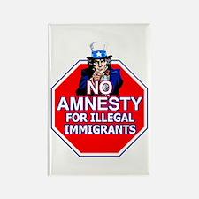 No Amnesty Rectangle Magnet