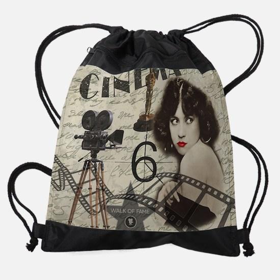 Cute Vintage Drawstring Bag
