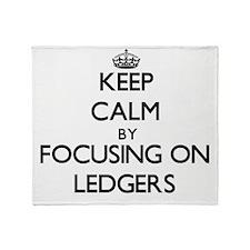 Keep Calm by focusing on Ledgers Throw Blanket
