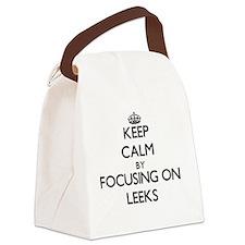 Keep Calm by focusing on Leeks Canvas Lunch Bag