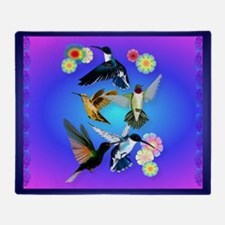 For The Love Of Hummingbirds- Throw Blanket