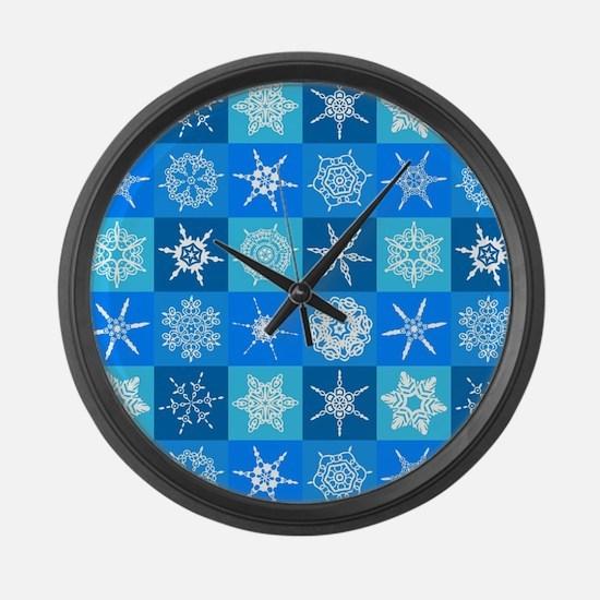 Snowflakes Large Wall Clock