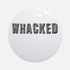 Whacked Ornament (Round)
