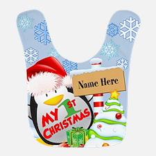 Penguin 1st Christmas Custom Bib