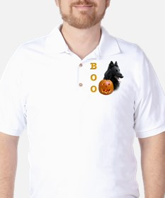 Belgian Sheepdog Boo Golf Shirt