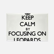 Keep Calm by focusing on Leopards Magnets