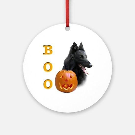 Belgian Sheepdog Boo Ornament (Round)