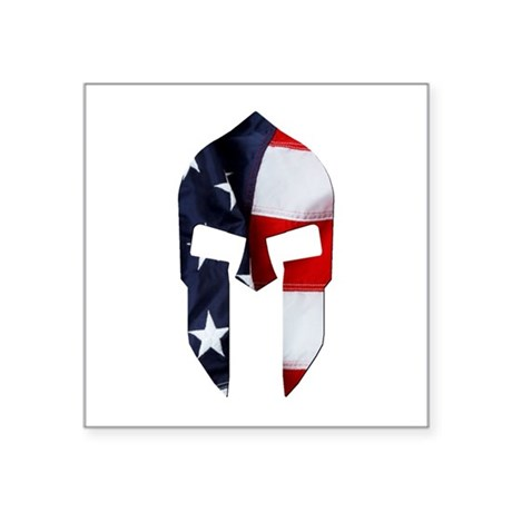 Oval - Vertical - Spartan Flag Sticker