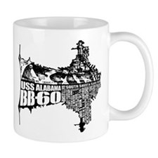 USS Alabama (BB-60) Mugs