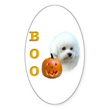 Bichon Boo Oval Decal