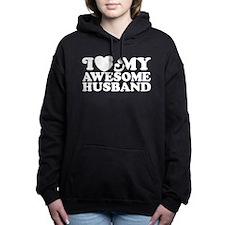 Cute I love my awesome husband Women's Hooded Sweatshirt