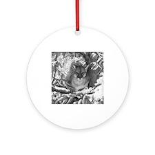 Mountain Lion Hideout Ornament (Round)