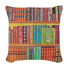 Library Woven Throw Pillow
