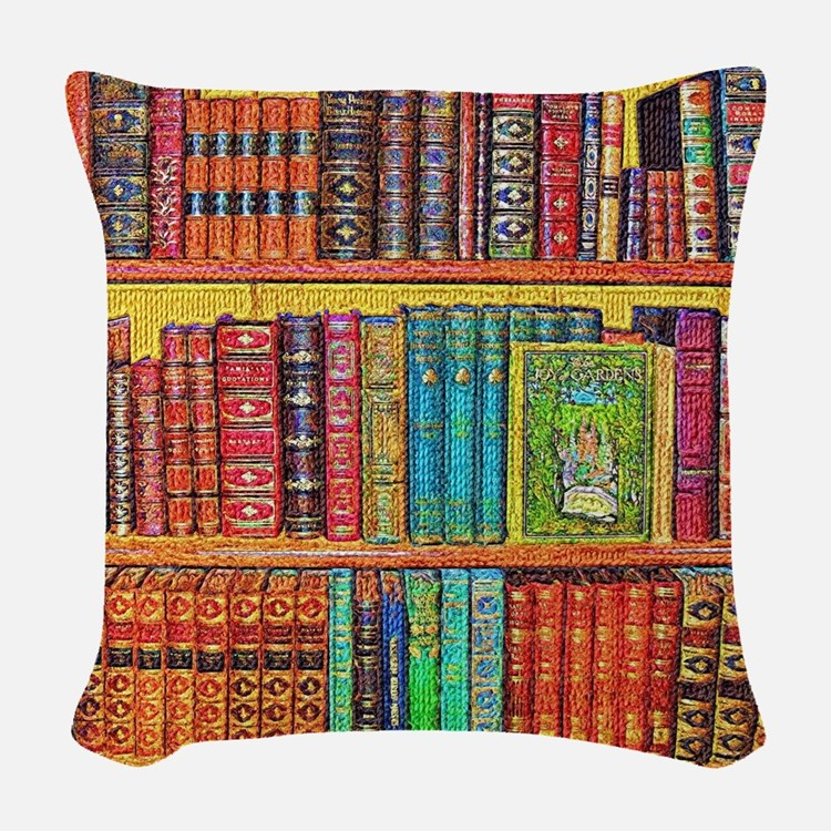 Library Woven Throw Pillow