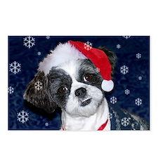 Shih Tzu Santa Postcards (Package of 8)