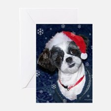 Shih Tzu Santa Greeting Cards