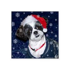 Shih Tzu Santa Sticker