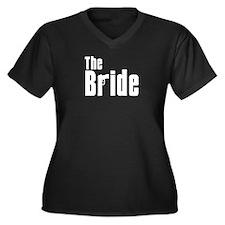 The Bride (Mafia) Women's Plus Size V-Neck Dark T-