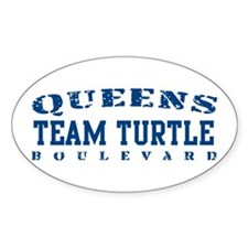 Team Turtle - Queens Blvd Oval Decal