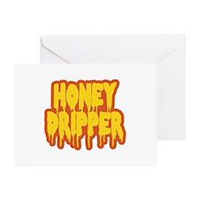 Honey Dripper Greeting Cards