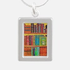 Library Silver Portrait Necklace