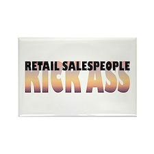 Retail Salespeople Kick Ass Rectangle Magnet
