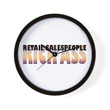 Retail Salespeople Kick Ass Wall Clock