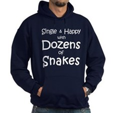 Single & Happy With Snakes Hoodie