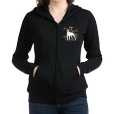 Unique Jack russell terrier Women's Zip Hoodie