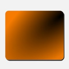 Orange and Black Mousepad