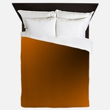 Orange and Black Queen Duvet