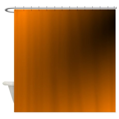Orange And Black Shower Curtain By Admin CP11861778