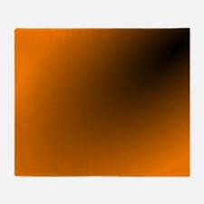 Orange and Black Throw Blanket