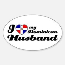 I love my Dominican Husband Oval Decal