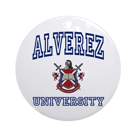 ALVEREZ University Ornament (Round)