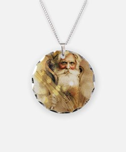 Golden Santa Claus Necklace