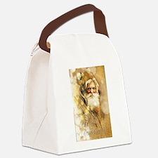 Golden Santa Claus Canvas Lunch Bag