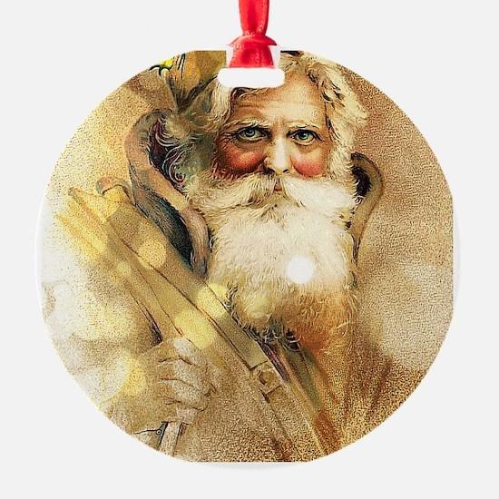 Golden Santa Claus Ornament