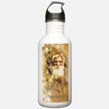 Golden Santa Claus Water Bottle