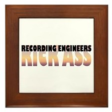 Recording Engineers Kick Ass Framed Tile