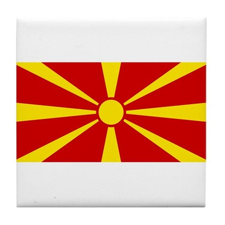 Macedonia Flag Tile Coaster