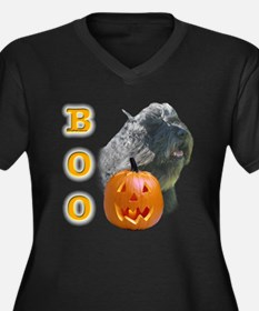 Bouvier Boo Women's Plus Size V-Neck Dark T-Shirt