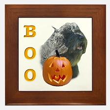 Bouvier Boo Framed Tile