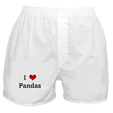 I Love Pandas Boxer Shorts