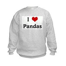 I Love Pandas Sweatshirt