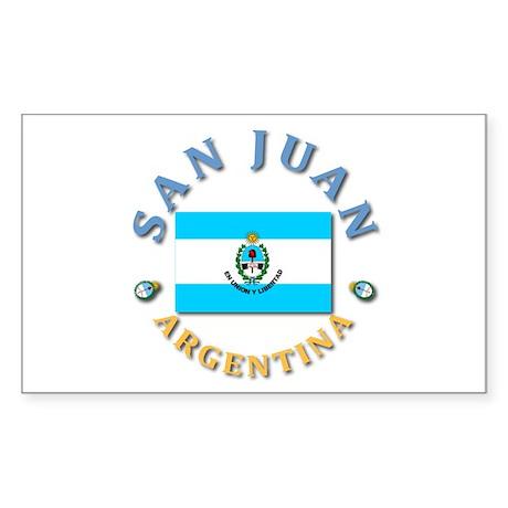 San Juan Rectangle Sticker